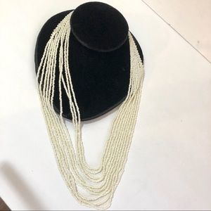 NEW White Beads Graduated Necklace